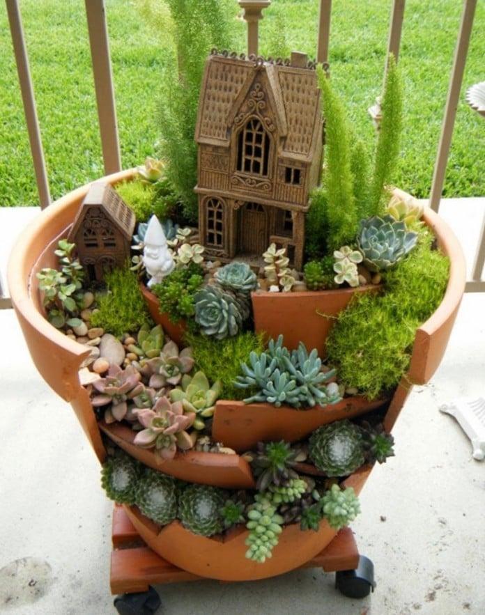Tiered Fairy Garden