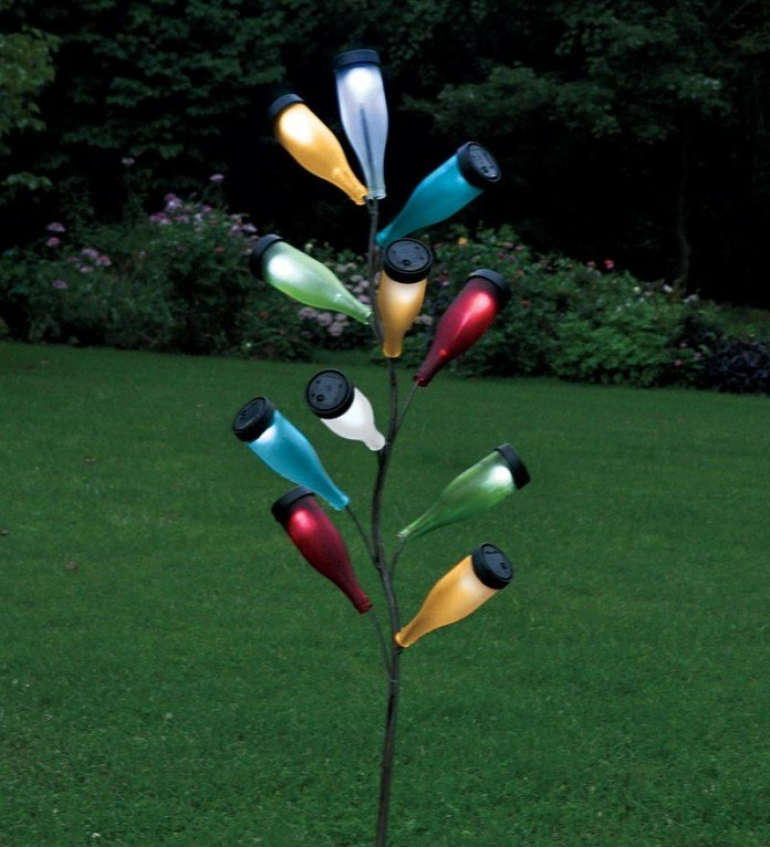 Solar Lighting Bottle Tree