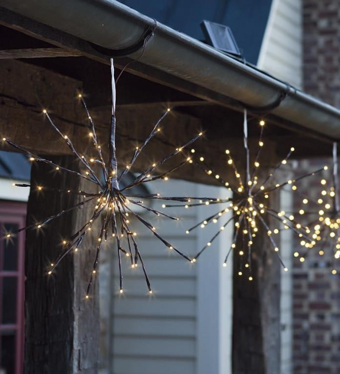 Solar lighting ideas: twig lights