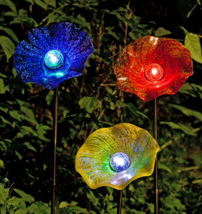 Solar Lighting Ideas Moonflower Gl Moonlight Flower