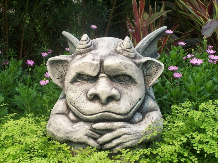 Creative little gargoyle statue