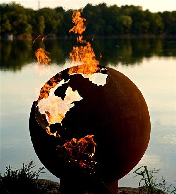 Steel Fire Pit Designs Globe