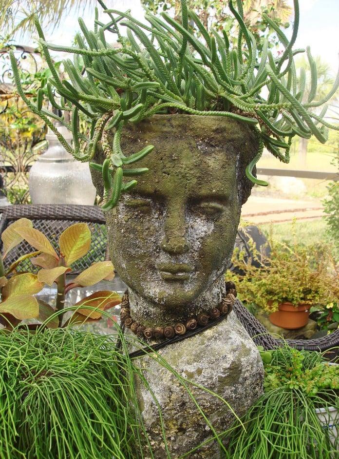 Head Planters in Stone