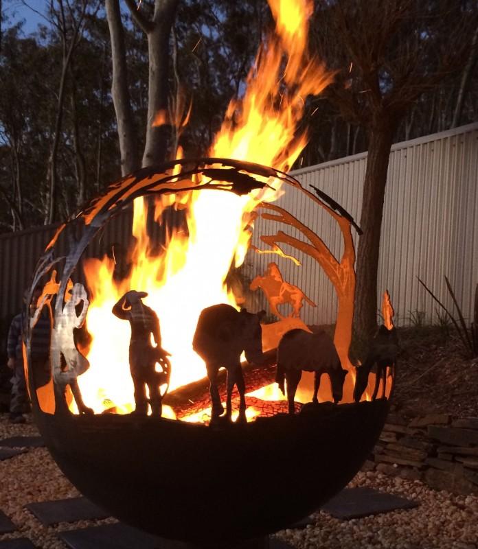 Steel Pit Campfire