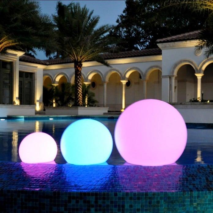 Nice Poolside Orb Lighting