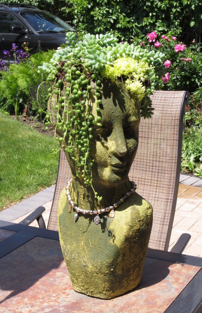 Planter With Turned Head