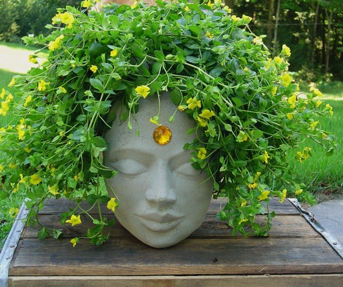 Head Planter Ideas in Stone