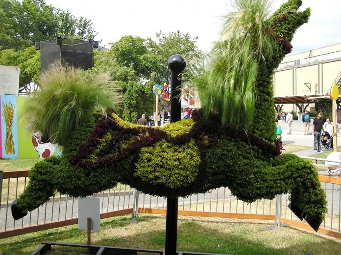 Carousel Horse Garden Statue