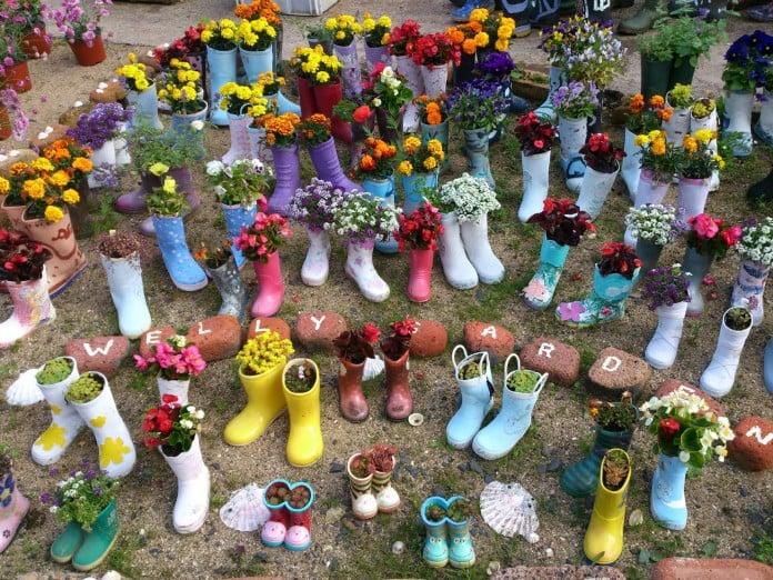 Rain Boot Flower Garden