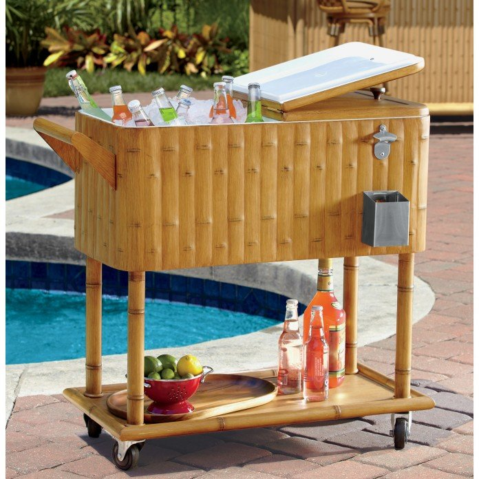 Tiki Bar Beverage Cooler