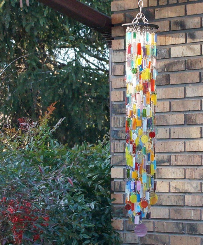 Shower of Glass Wind Chimes Design