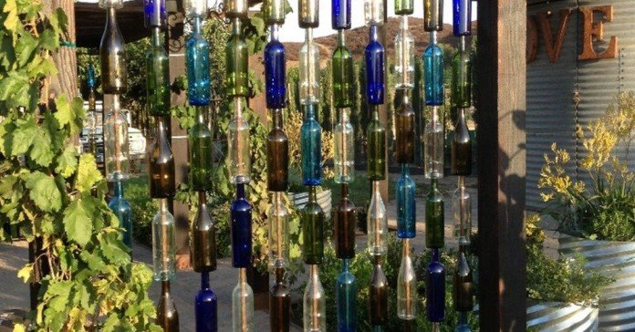 Privacy Screen DIY Glass Bottles