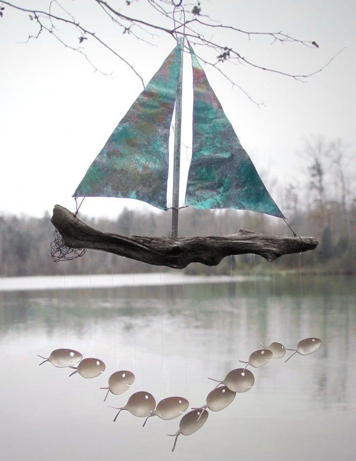 Sailboat Design Fish Chimes