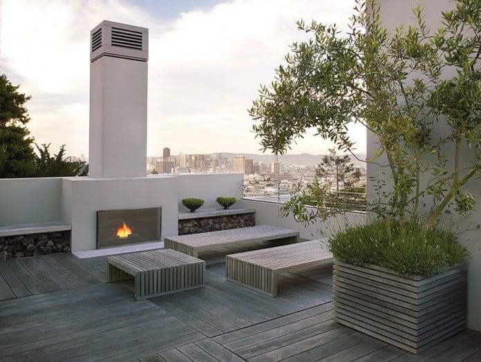 47 Unique Outdoor Fireplace Design Ideas on Modern Backyard Fireplace id=34357