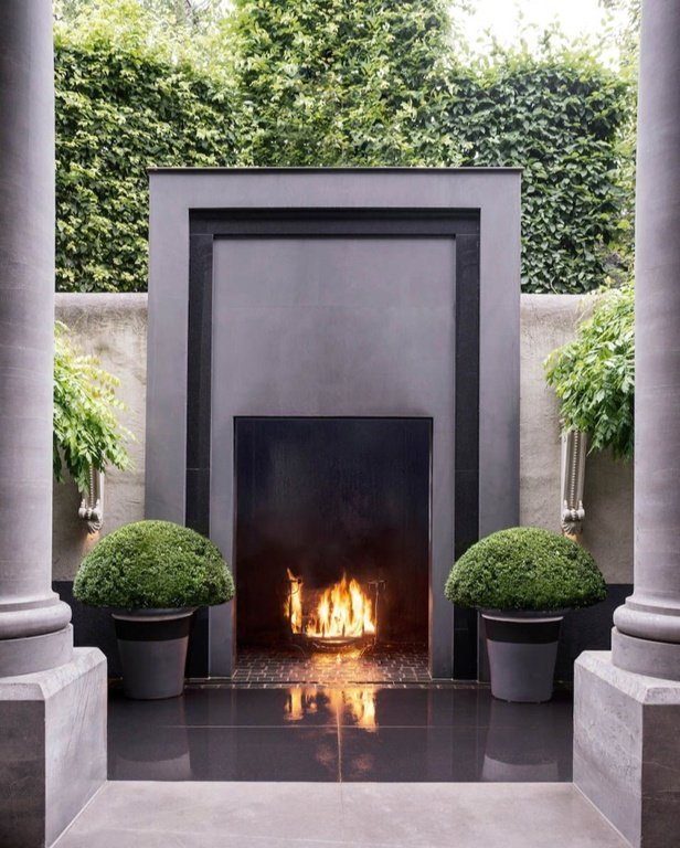 Modern Outdoor Fireplace Design Ideas