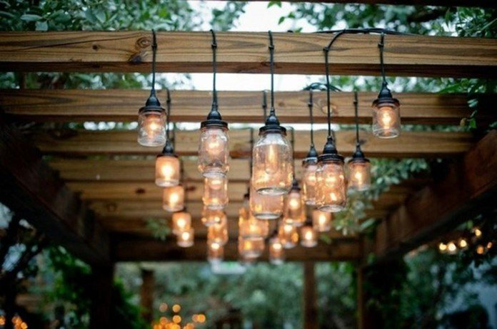 Pergola Lights Mason Jars