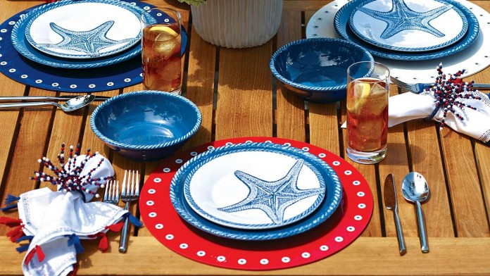 Starfish plates made of melamine