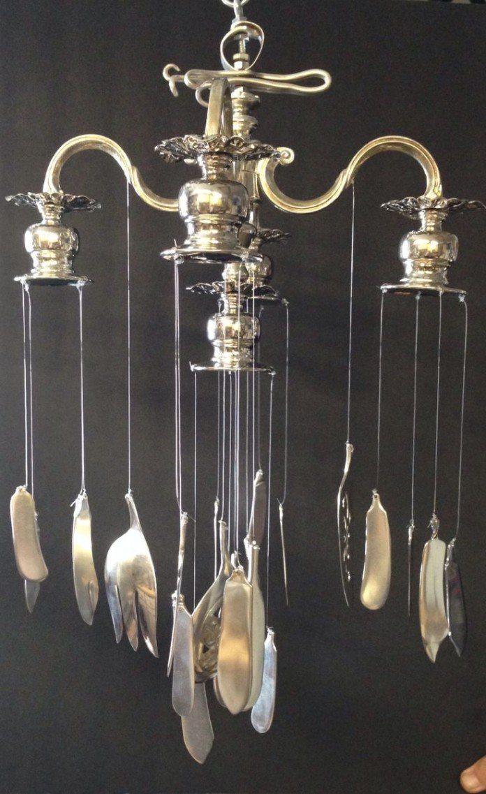 Candle holder idea cutlery chime
