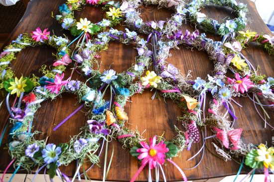 Floral crown wreaths for summer solstice parties