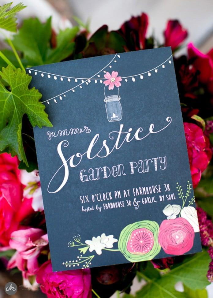 Solstice Garden Party Invitation
