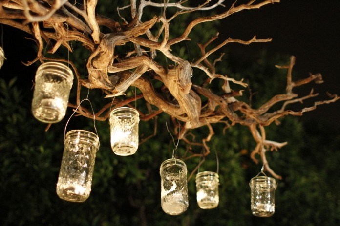 Mason Jars Wild Branches