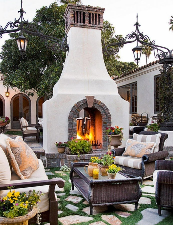 47 Unique Outdoor Fireplace Design Ideas on Small Outdoor Fireplace Ideas id=97550