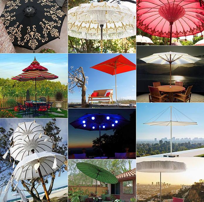 45 Patio Umbrella Ideas Amp Sun Shade Sail Designs For Backyard