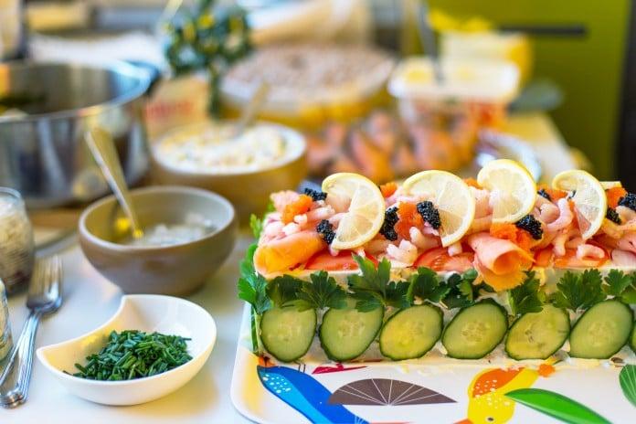 Swedish sandwich cake for Solstice