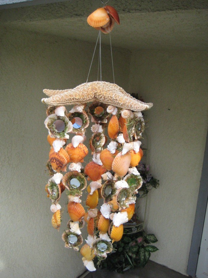 Seashells Starfish Chimes Mirror idea