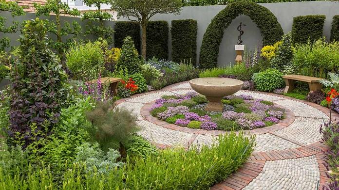 St John's Hospice Modern Apothecary Garden Design