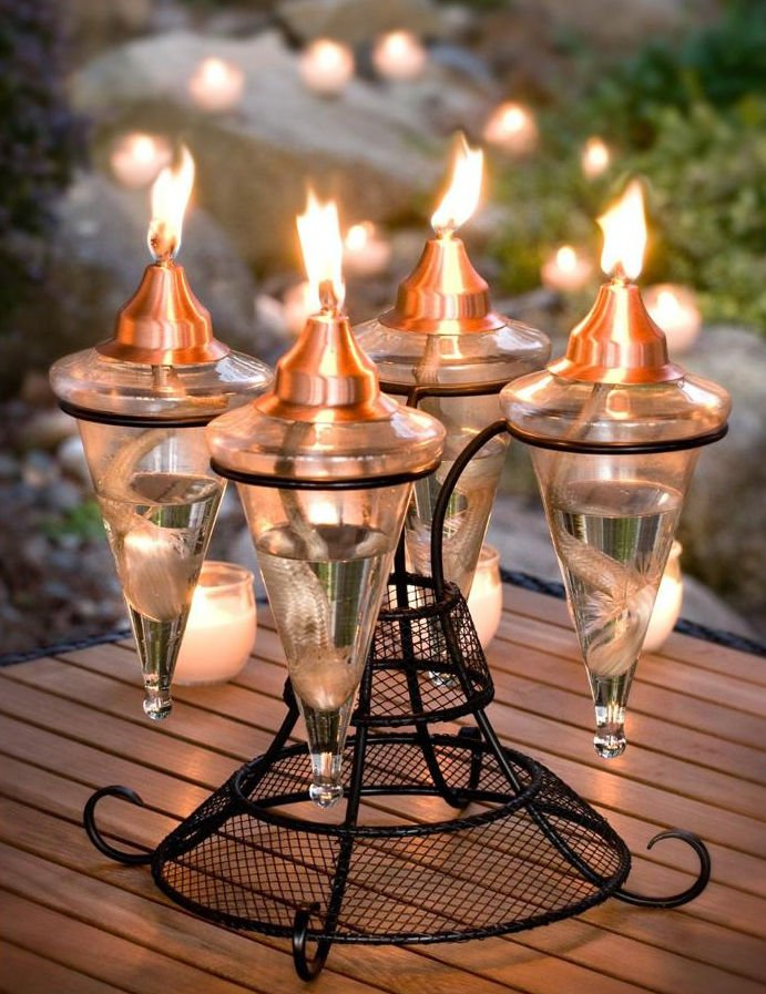 Table Top Oil Lamp Copper Gl