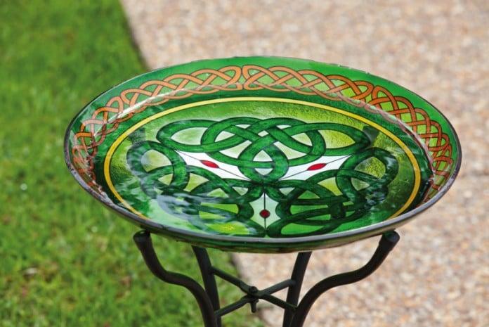 Luck of the Irish Celtic Bird Bath