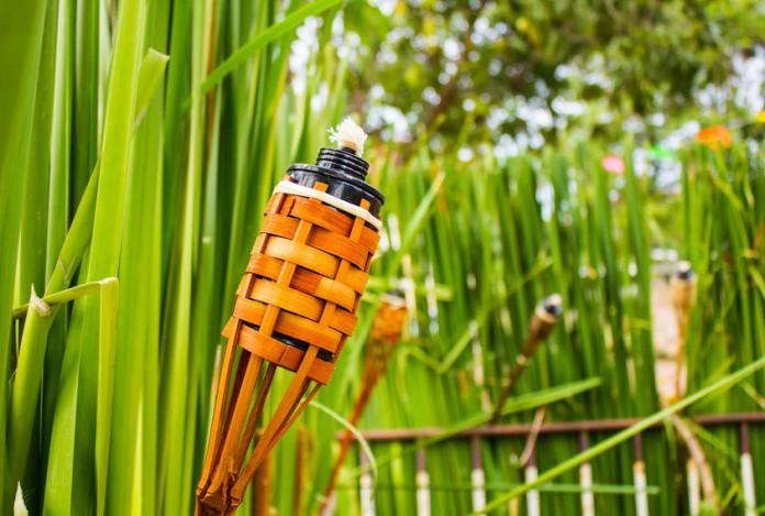 Classic Bamboo Tiki Torch