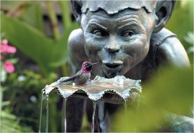 David Goode Bronze Water Feature Pixie