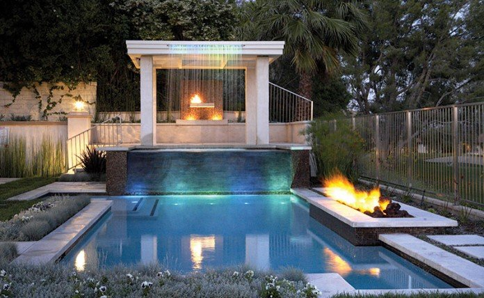 Fire and water features are popular