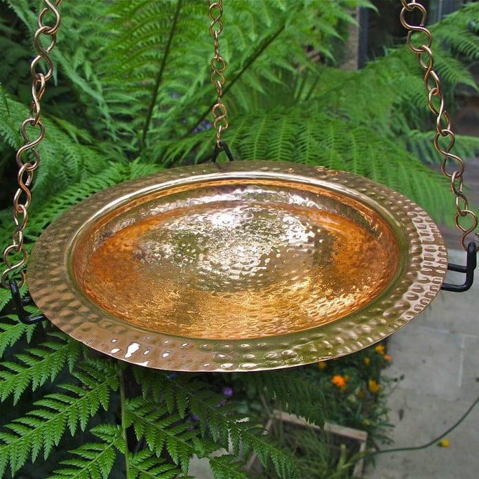 Hanging Copper Saucer Bird Bath