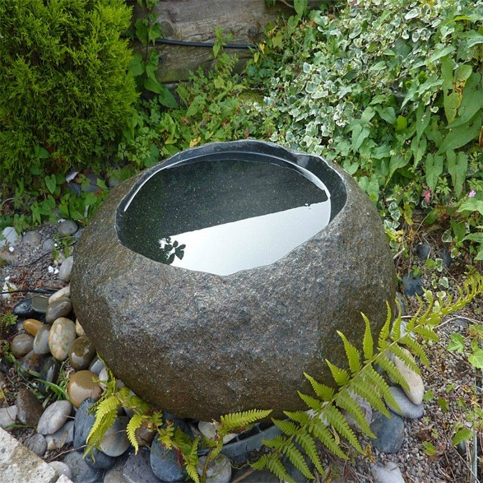 Natural Rock Bird Bath Idea Actually Rocks