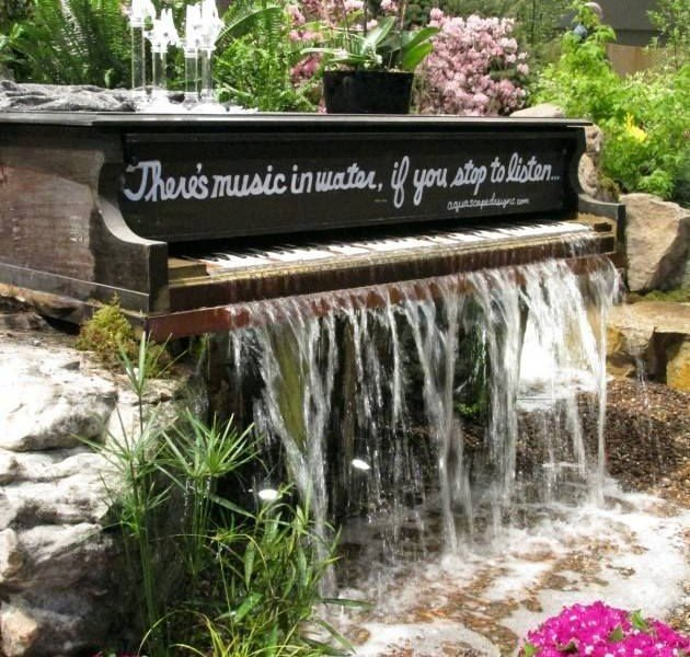 There's music in this amazing water feature