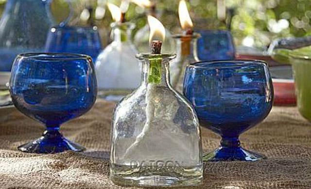 DIY Patron Tequila Tiki Torch