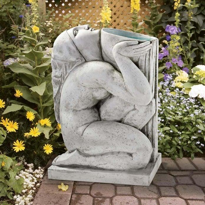 Roman Goddess Bird Bath