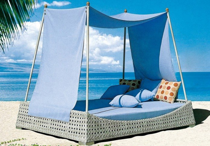 Blue Canopy Outdoor Daybed