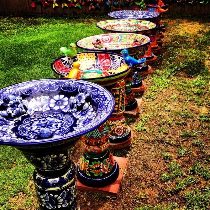 Mexico Talavera Bird Bath Designs