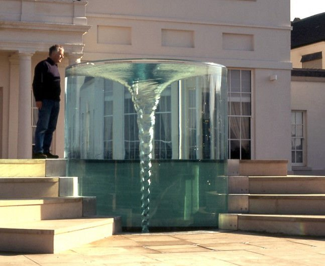 Garden Water Feature With Vortex