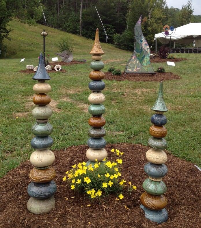 ceramic garden totems