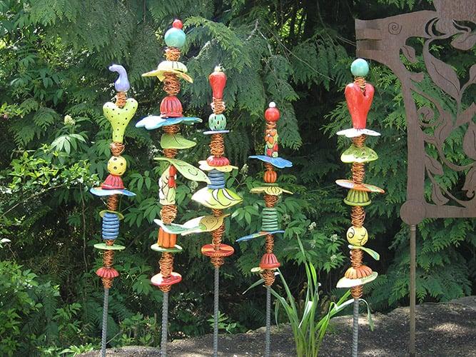 Whimsical Garden Totems