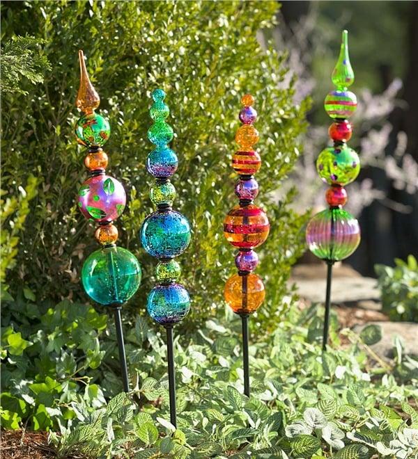 Glass Totem Garden Stake