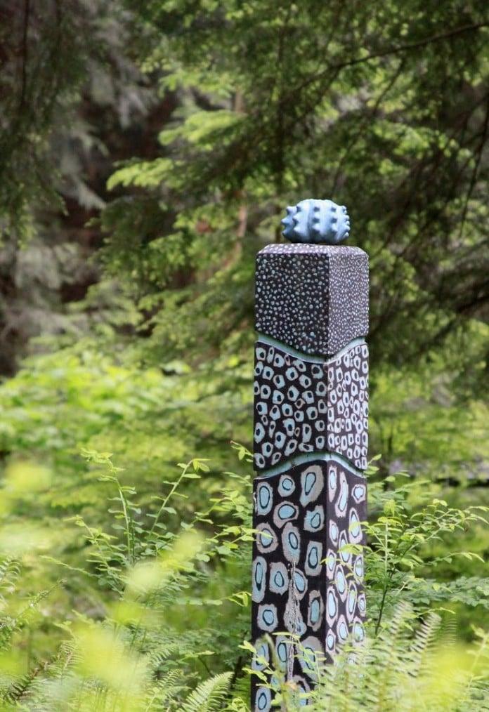 Artistic garden totem