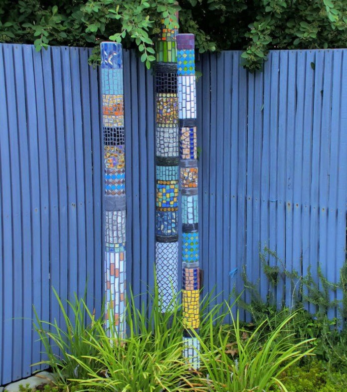 Mosaic Garden Totem Trio