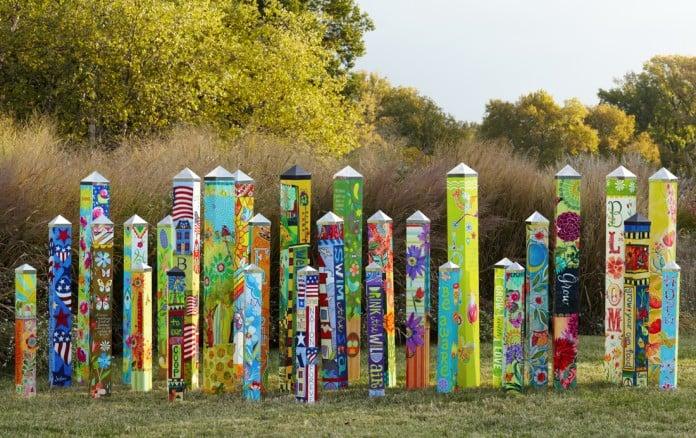 Peace Poles Garden Totems