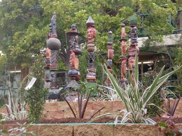 Sculpture garden totems